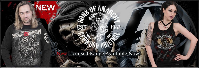 Licencjonowane ciuchy Sons of Anarchy w metalRoute!