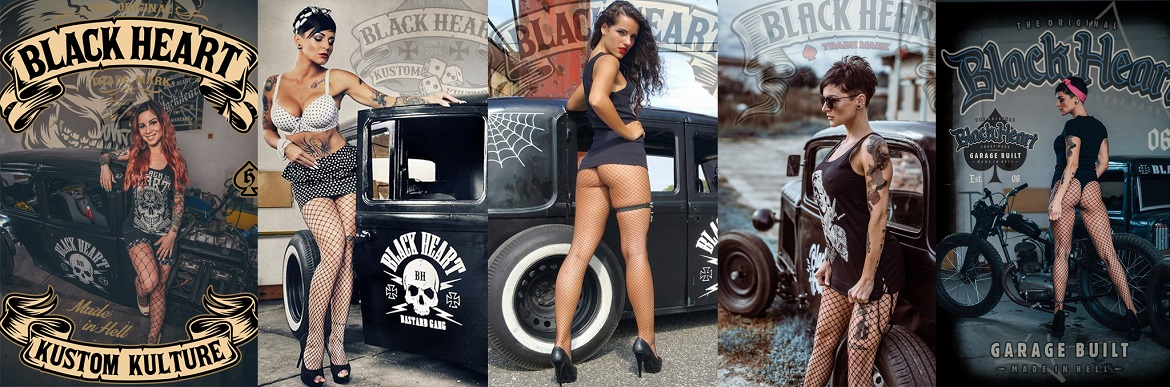Black Heart hot rod, pin up, rockabilly, rock'n'roll, punk rock