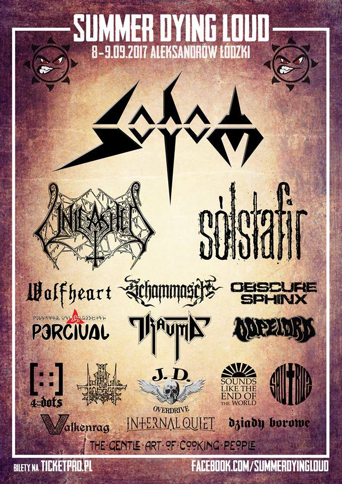 Summer Dying Loud 2017 festiwal -  plakat