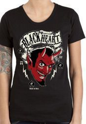 Short sleeve T-Shirt BLACK HEART DEVIL