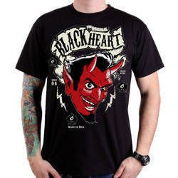 Short sleeve T-Shirt BLACK HEART DEVIL MEN