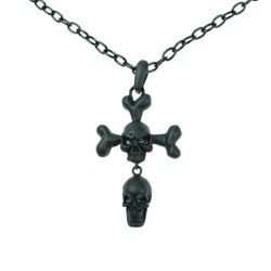 necklace POIZEN INDUSTRIES CROSS BONE BACK