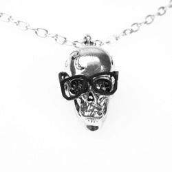necklace POIZEN INDUSTRIES SKULL NERD