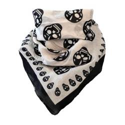 scarve ROCK DADDY BIG SKULLS WHITE