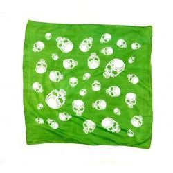 scarve ROCK DADDY HUGE SKULLS APPLE GREEN