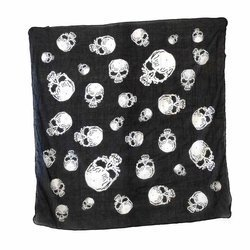 scarve ROCK DADDY HUGE SKULLS BLACK