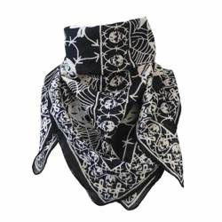scarve ROCK DADDY SKULLS AND COBWEB BLACK/WHITE