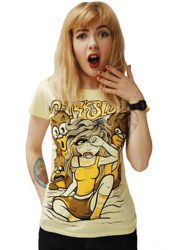 short sleeve T-Shirt DARKSIDE 3 BEARS YELLOW