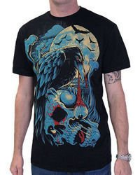 short sleeve T-Shirt DARKSIDE CROW BLACK