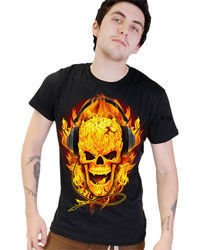 short sleeve T-Shirt DARKSIDE FLAMES