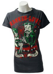 short sleeve T-Shirt DARKSIDE FRANKEN LOVER GREY