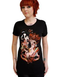 short sleeve T-Shirt DARKSIDE GEISHA FAN
