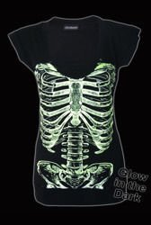 short sleeve T-Shirt DARKSIDE GLOW IN THE DARK RIBS