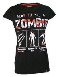 short sleeve T-Shirt DARKSIDE HOW TO KILL A ZOMBIE