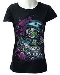 short sleeve T-Shirt DARKSIDE ROLLER DERBY BLACK