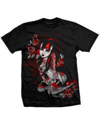 short sleeve T-Shirt DARKSIDE RUBY BLACK