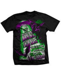 short sleeve T-Shirt DARKSIDE VAMPIRE BATS BLACK
