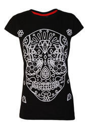 short sleeve T-Shirt DARKSIDE WHITE SUGAR SKULL