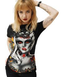 short sleeve T-Shirt DARKSIDE WOLF GIRL