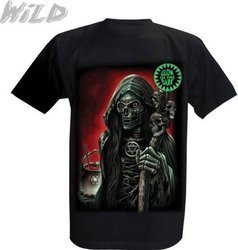 short sleeve T-Shirt WILD SKELETON WITH A BAR
