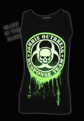 sleeveless T-Shirt DARKSIDE GLOW IN THE DARK ZOMBIE RESPONSE