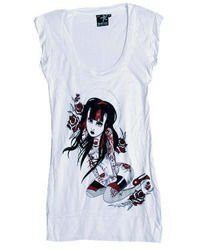 sleeveless T-Shirt DARKSIDE RUBY WHITE