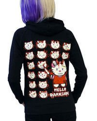 sweatshirt DARKSIDE KITTY HEADS