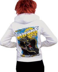 sweatshirt DARKSIDE WEREWOLF WHITE