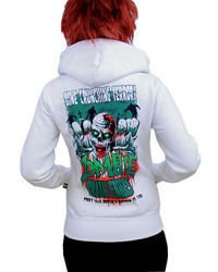 sweatshirt DARKSIDE ZOMBIE BRAIN EATERS WHITE
