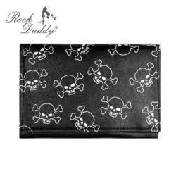 wallet ROCK DADDY SKULL WITH WHITE SKULLS