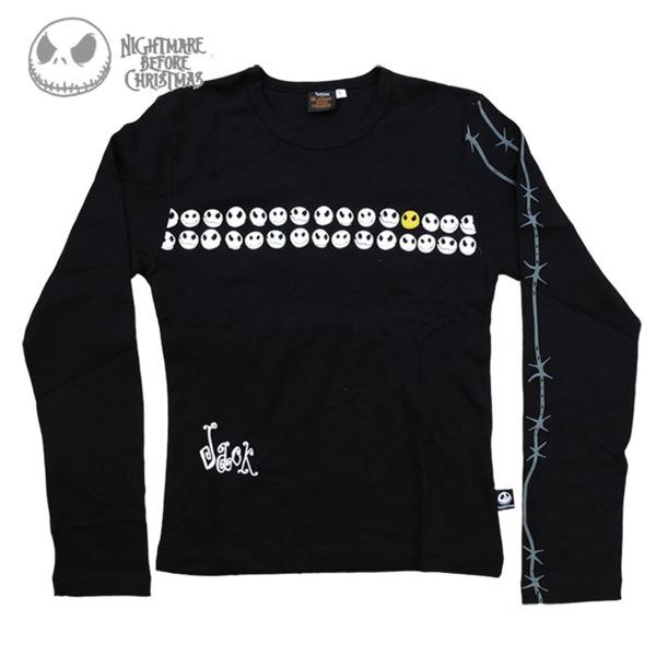 long sleeve T-Shirt NIGHTMARE BEFORE CHRISTMAS JACK HEADS | Women's ...