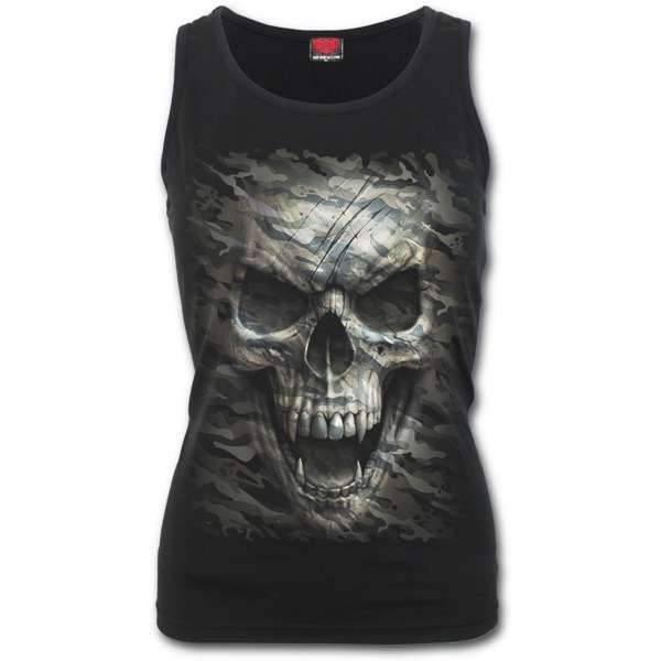 21ccc5a9 sleeveless T-Shirt SPIRAL CAMO-SKULL | Women's Rock Fashion \ T-Shirts  Brands \ S \ SPIRAL | metalRoute.pl rock shop and motorcycle shop