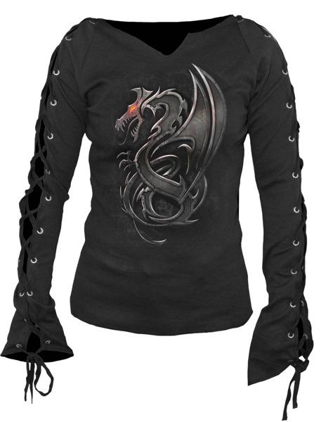 057153f19cc42b long sleeve T-Shirt SPIRAL DRAGON SLAYER