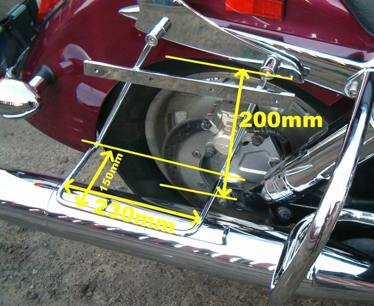 saddlebag support rails WITH PROPS HONDA VTX 1300 C CUSTOM
