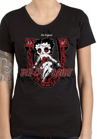 Short sleeve T-Shirt BLACK HEART BLOODY DOLL