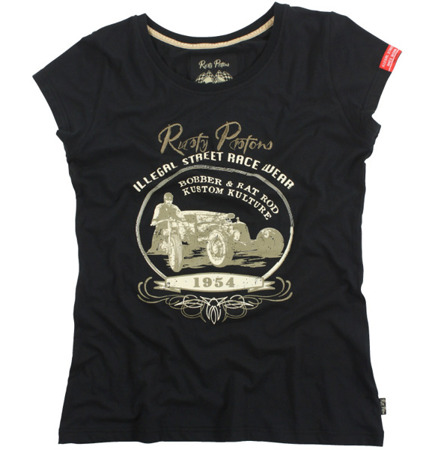 short sleeve T-Shirt RUSTY PISTONS CORONA BLACK