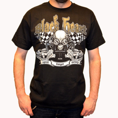 Short sleeve T-Shirt BLACK HEART DANGER ZONE