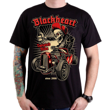 Short sleeve T-Shirt BLACK HEART TWISTED RIDER