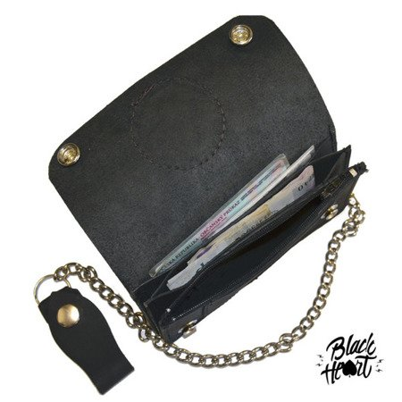 Wallet BLACK HEART CHOPPERS CROSS