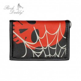 wallet ROCK DADDY RED SKULL AND GREY COBWEB