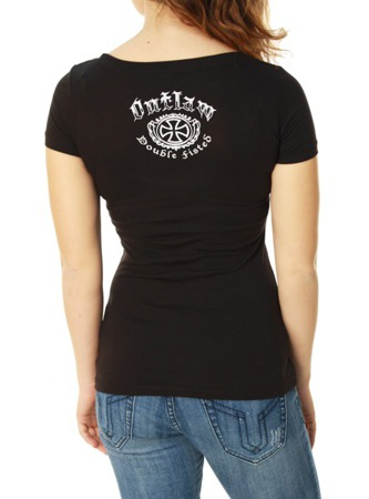 short sleeve T-Shirt OUTLAW THREADZ DOUBLE FISTED SHE