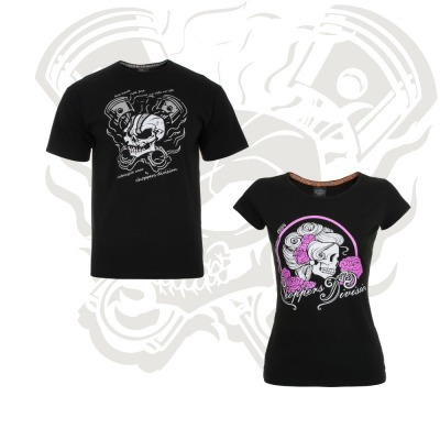 Set CHOPPERS DIVISION SKULL TShirt for Him and Her