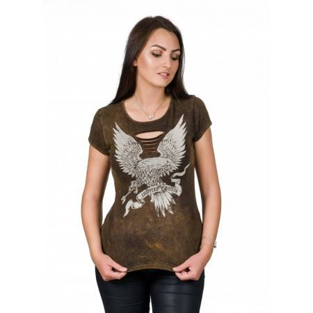 Short sleeve T-Shirt CHOPPERS DIVISION FREEDOM EAGLE LADY