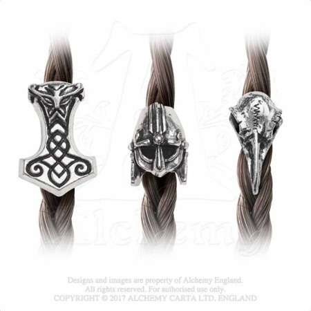 beard & hair beads ALCHEMY GOTHIC NORSEBRAID HAIR BEADS