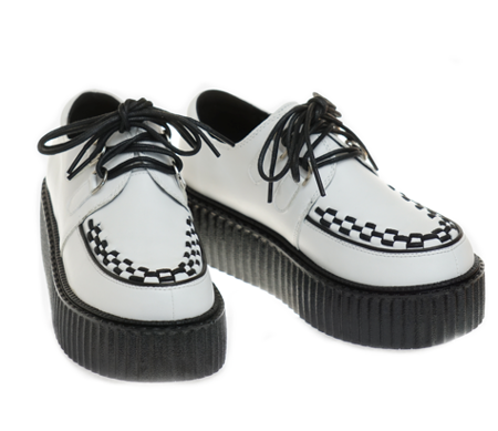 creepers SMITH's WHITE LEATHER