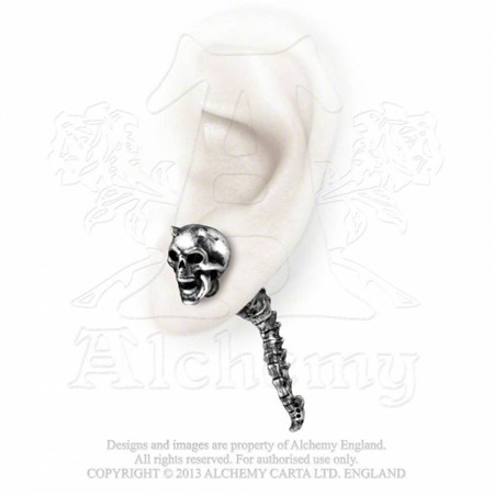 earring ALCHEMY GOTHIC WRAITH SPINE