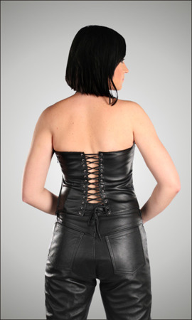 leather corset TARBOR LONG