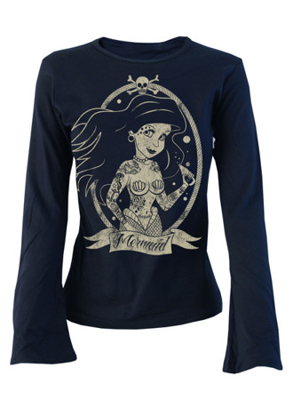 long sleeve T-Shirt DARKSIDE MERMAID NAVY