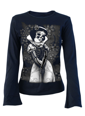 long sleeve T-Shirt DARKSIDE SNOW WHITE NAVY