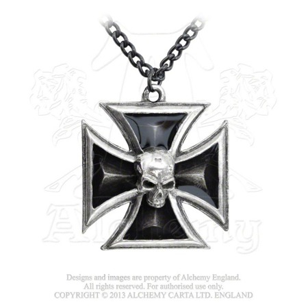 pendant ALCHEMY GOTHIC BLACK KNIGHT'S CROSS